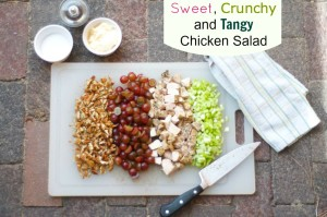 Sweet, Tangy and Crunchy Chicken Salad Recipe from BunchesOLunches.com