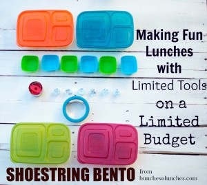 Shoestring Bentos from bunchesolunches.com