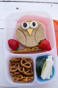 Shoestring Bento: Owl from bunchesolunches.com