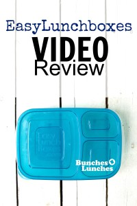 Easy Lunchboxes Video Review from bunchesolunches.com