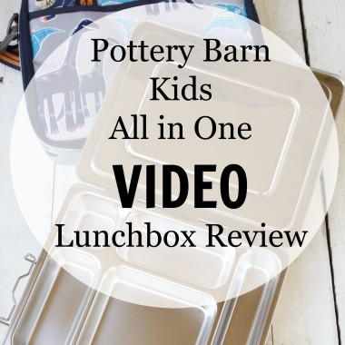 Pottery Barn Kids All in One Lunchbox Review from bunchesolunches.com