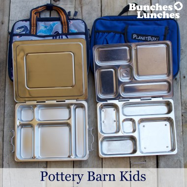 Pottery Barn Kids All in One Lunchbox v Planetbox Rover Lunchbox Review at bunchesolunches.com