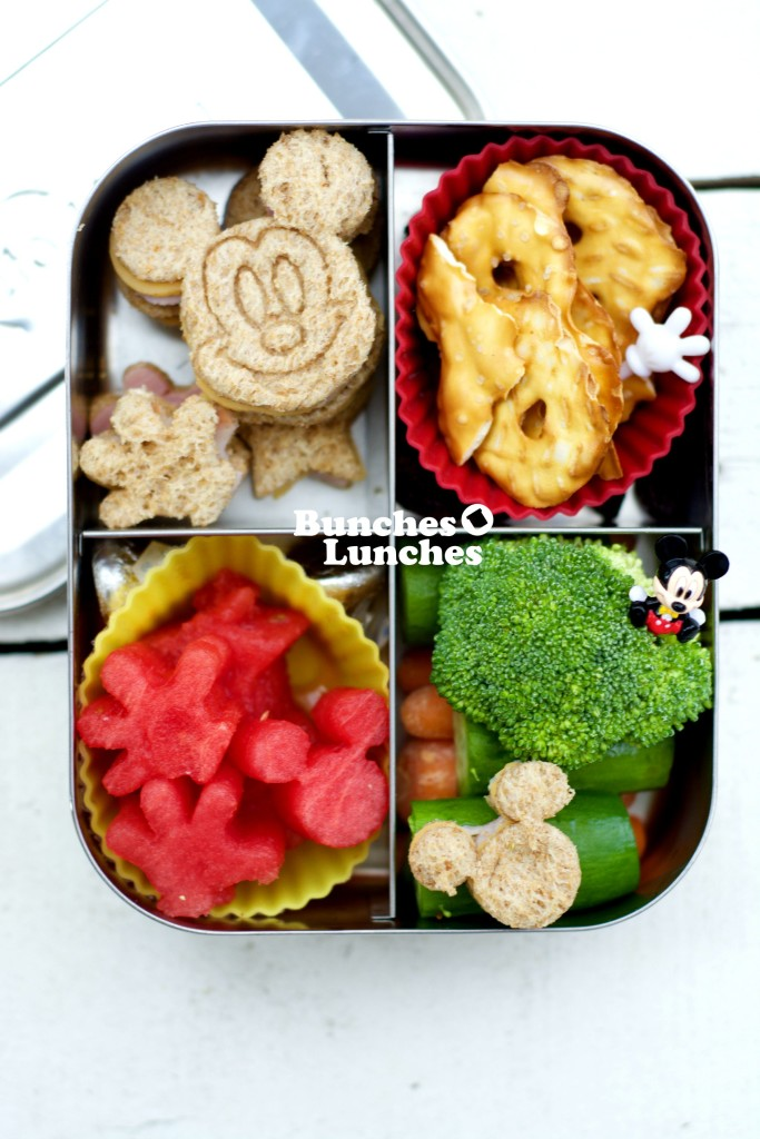 Mickey Mouse Bento Lunch from bunchesolunches.com