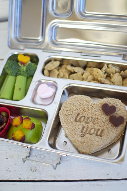 This fun Valentine's Day lunch for kids is easy and quick to put together. It has a variety of healthy, fresh foods.